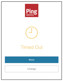 Timeout screen